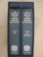 The Compact Edition of the Oxford English Dictionary: Volumes I and II, Slipcased with Reading Glass - Oxford University Press