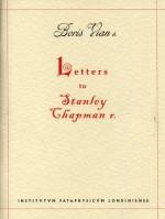 Letters to Stanley Chapman - Boris Vian, Stanley Chapman
