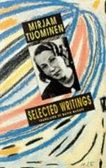Selected Writings - Mirjam Tuominen, David McDuff