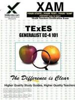 TExES Generalist EC-4 101 Teacher Certification Test Prep Study Guide - Sharon Wynne