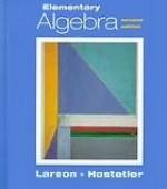 Elementary Algebra - Ron Larson, Robert P. Hostetler
