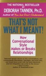 That's Not What I Meant! - Deborah Tannen