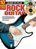 CP69104 - 10 Easy Lessons Learn to Play Rock Guitar BK/CD - Brett Duncan