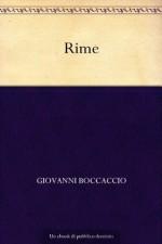 Rime (Italian Edition) - Giovanni Boccaccio
