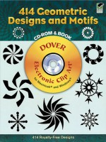 414 Geometric Designs and Motifs CD-ROM and Book - Dover Publications Inc.