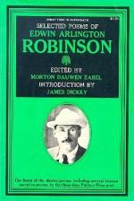 Selected Poems of Edwin Arlington Robinson - Edwin Arlington Robinson, Morton Dauwen Zabel, James Dickey