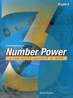 Contemporary's Number Power 3 : Algebra A Real World Approach to Math - Robert Mitchell