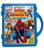 Marvel Heroes Action Adventures Book & Magnetic Playset - Kc Kelly, Magic Eye Studios