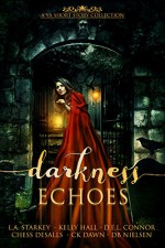 Darkness Echoes: A Spooky YA Short Story Collection - L.A. Starkey, Kelly Hall, D.E.L. Connor, Chess Desalls, CK Dawn, DB Nielsen, Kellie Dennis Book Cover By Design