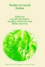 Studies in Greek Syntax - Artemis Alexiadou