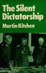 The Silent Dictatorship: The Politics of the German High Command Under Hindenburg and Ludendorff, 1916-1918 - Martin Kitchen