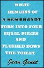 Rembrandt: - Jean Genet, Bernard Frechtman, Randolph Hough