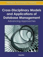 Cross-Disciplinary Models and Applications of Database Management: Advancing Approaches - Keng Siau