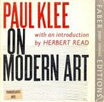 Paul Klee on Modern Art - Paul Klee, Herbert Read, Paul Findlay