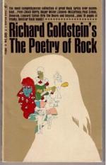 Richard Goldstein's The Poetry of Rock - Richard Goldstein