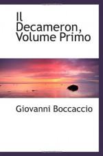 Il Decameron, Volume Primo - Giovanni Boccaccio