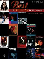 The Best in Popular Sheet music / Big Note - Dan Coates