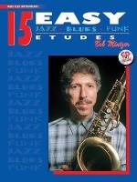 15 Easy Jazz, Blues & Funk Etudes: Bass Clef Instrument, Book & CD - Bob Mintzer