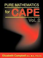 Pure Mathematics for Cape Volume 2 - Elizabeth Campbell