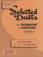 Selected Duets for Trombone or Baritone: Volume 2 - Medium-Advanced (Rubank Educational Library) - H. Voxman