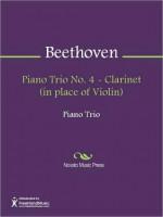 Piano Trio No. 4 - Clarinet (in place of Violin) - Ludwig van Beethoven
