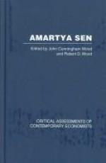 Amartya Sen: Critical Assessments of Contemporary Economists - John Cunningham Wood