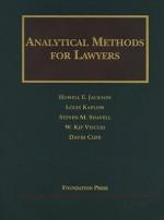 Analytical Methods for Lawyers - Howell E. Jackson, W. Kip Viscusi