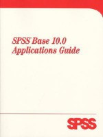 SPSS Base 10 Applications Guide - SPSS