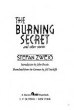 The Burning Secret and other stories - Stefan Zweig, John Fowles, Jill Sutcliffe