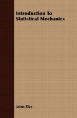 Introduction to Statistical Mechanics - James Rice