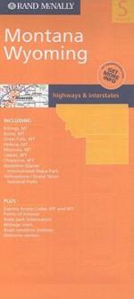 Rand Mc Nally Montana, Wyoming: Highways & Interstates (Rand Mc Nally Folded Map: States) - Rand McNally