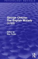 George Cheyne: The English Malady (1733) (Psychology Revivals) - Roy Porter