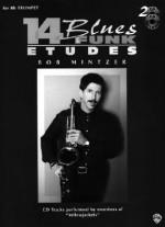 14 Blues & Funk Etudes: E-Flat Instrument (Alto Sax, Baritone Sax), Book & 2 CDs [With 2 CDs] - Bob Mintzer, Larry Clark