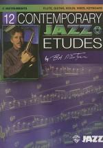 12 Contemporary Jazz Etudes: C Instruments Flute, Guitar, Vibes, Violin (Book & Cd) - Bob Mintzer