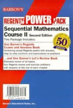 Barron's Regents Power Pack: Sequential Mathematics Course Ii/Barron's Regents Exams And Answers: Three Year Sequence For High School - Lawrence S. Leff