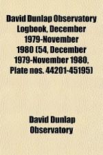 David Dunlap Observatory Logbook, December 1979-November 1980 (54, December 1979-November 1980, Plate Nos. 44201-45195) - David Dunlap Observatory