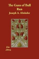 The Guns of Bull Run - Joseph Alexander Altsheler