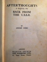 Afterthoughts: A Sequel to Back From the U.S.S.R. - André Gide, Dorothy Bussy