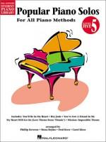 Popular Piano Solos - Level 5: Hal Leonard Student Piano Library - Joel, Carol Klose, Fred Kern