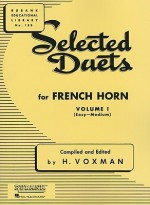 Selected Duets for French Horn: Volume 1 - Easy to Medium (Rubank Educational Library) - H. Voxman