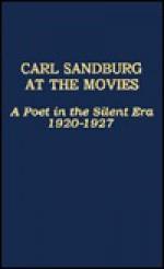 Carl Sandburg at the Movies: A Poet in the Silent Era 1920-1927 - Carl Sandburg, Dale Fetherling, Doug Fetherling