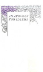 An Apology for Idlers - Robert Louis Stevenson