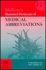 Melloni's Illustrated Dictionary of Medical Abbreviations - B. John Melloni, June L. Melloni