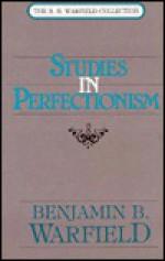 Studies in Perfectionism - Benjamin Breckinridge Warfield