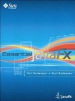Essential Javafx - Gail Anderson, Paul Anderson