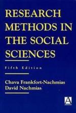 Research Methods in the Social Sciences - Chava Frankfort-Nachmias, David Nachmias, Nachmias