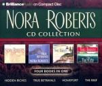 Nora Roberts CD Collection : Hidden Riches, True Betrayals, Homeport, The Reef - Sandra Burr, Erika Leigh, Rose Ann Shansky, Nora Roberts
