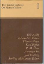 The Tanner Lectures on Human Values, 1980 - Karl Popper, Joel Feinberg, Richard Mervyn Hare