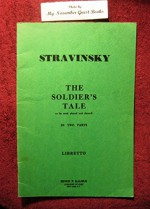 L'Histoire du soldat =: The soldier's tale : to be read, played, and danced - Igor Stravinsky