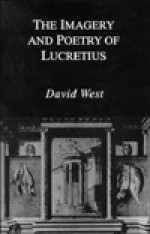 The Imagery And Poetry Of Lucretius - David Alexander West